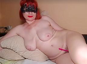 Redhead hairy big breast