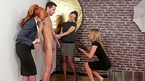 Double handjob at massage parlor video