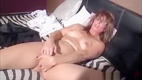 Girl humping pillow has orgasm