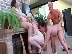 Busty akimi threesome sex and creampied