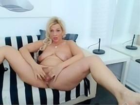 Cute blonde girl in pantyhose