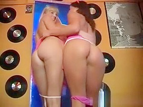 Blond vs brunette naked wrestling