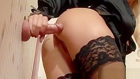 Beautiful blonde sucks dick