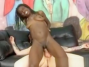 Black bitch riding dick