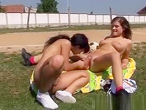 Lesbian teens in wet panties
