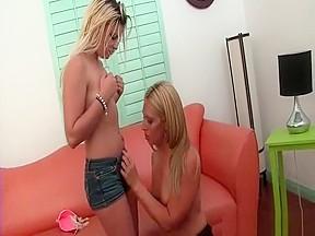 Hot blond lesbians kissing