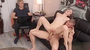 Embarrassed wife public agent