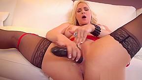 Blonde huge tits lez