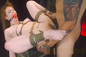 Nude lesbian playing with toy