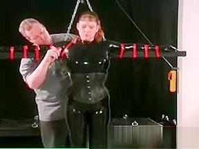 Fetish bondage sissy free dildo