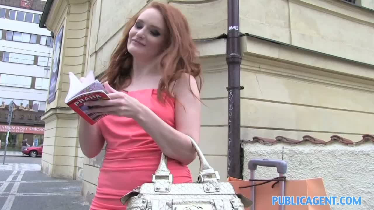 Teen redhead public agent agent