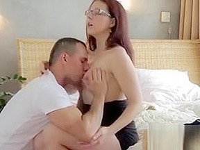 Pale redhead chubby creampie