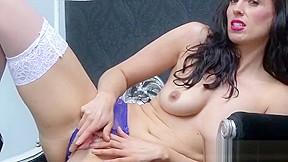 Busty hand job stripper