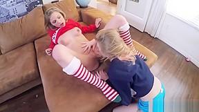 Lesbian squirt facial orgy