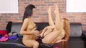 Deep hands lesbian fisting