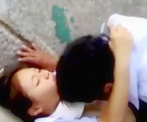Asian girl cummed inside pussy