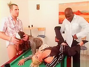 Sloppy gangbang creampie 1
