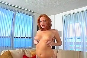 Busty red head italian