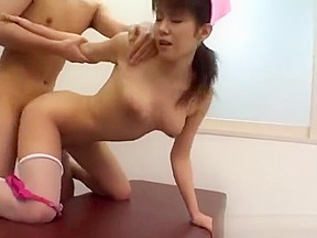 Asian deep throat blow job