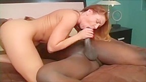 Busty girl interracial 3some