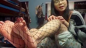 Asian blow given job naked