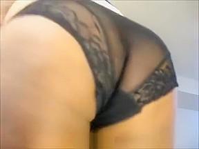 Black ebony anal double