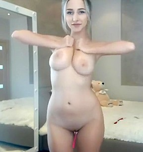 Beautiful girl with hairy pussy