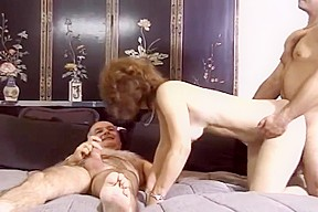 Blonde milf sucking and swalowing