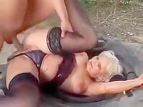 Busty milf takes huge cock