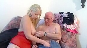 Mature seducing young woman