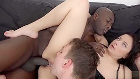 Wife Takes A Black Dick Anally While Hubby Licks