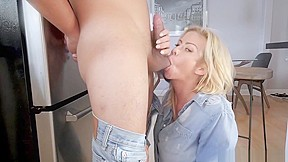 Wife giving my friend a blowjob