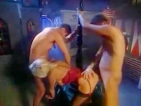 Bosomy blond mad nylon sexual intercourse