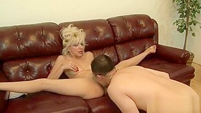 Hot blonde takes huge black cock