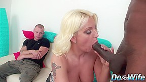 Women sucking black soldier dick