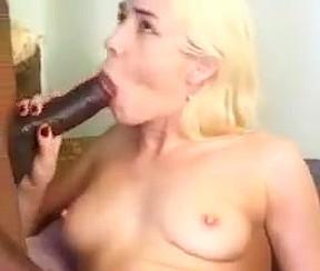 Blonde gets it hard