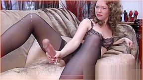 Lezdom domina masturbating video