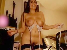 Hot girl flashing tits