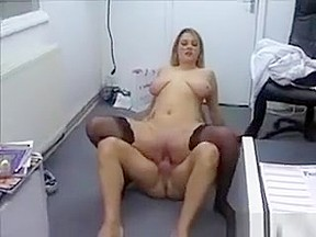 Blonde Office Whore Getting Fucked Hard