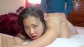 Black cock banging white pussy
