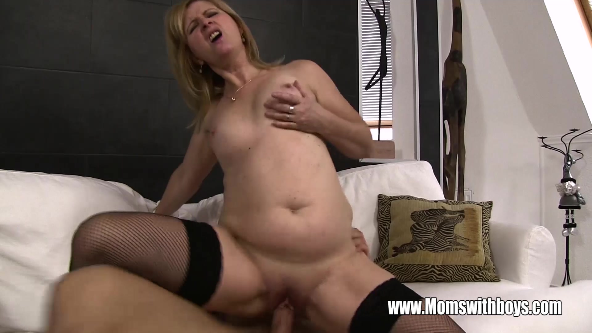 Mature Blonde Stepmom Ass Spanking Her Stepson  Moms With -4054