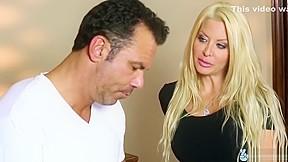 Mature woman watching young man masturbate