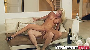 Interracial blondes on black