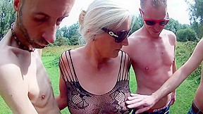 Naked outdoor sex flashing