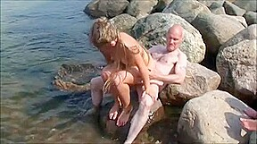 Bisexual couple senior swinging