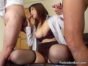 Sexy asian toying orgy