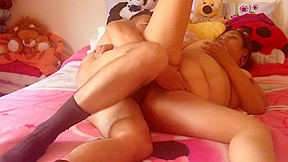 Ebony with pink pussy