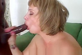 Blonde Milf Gets Stuffed By Black Cock From Behind