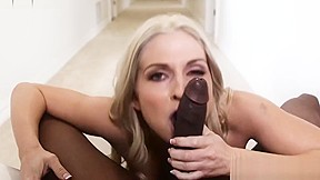 Mature forces guy to lick her