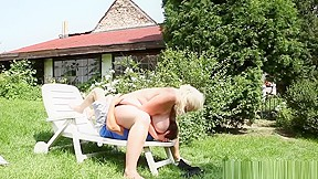 Chunky Bbw Teasing Her Sub Outdoors With Tits